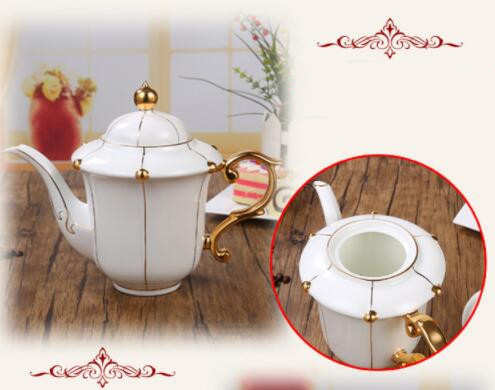26B450 コーヒーカップ&ソーサー 家庭用 陶器製ミルクティーカップヨーロッパ式 15点セット ティー兼用 コーヒーポット ミルク壺 砂糖つぼ_画像6