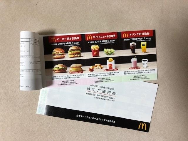 ☆マクドナルド株主優待券(6枚綴り)×2冊 送料無料☆