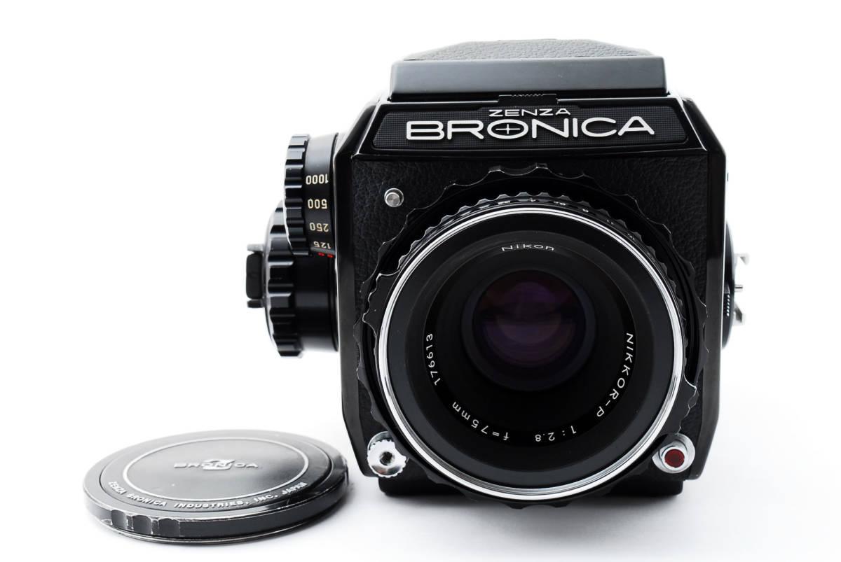 ★美品★ゼンザブロニカ Zenza Bronica EC Medium Format w Nikkor P 75mm f2.8 #460318_画像2