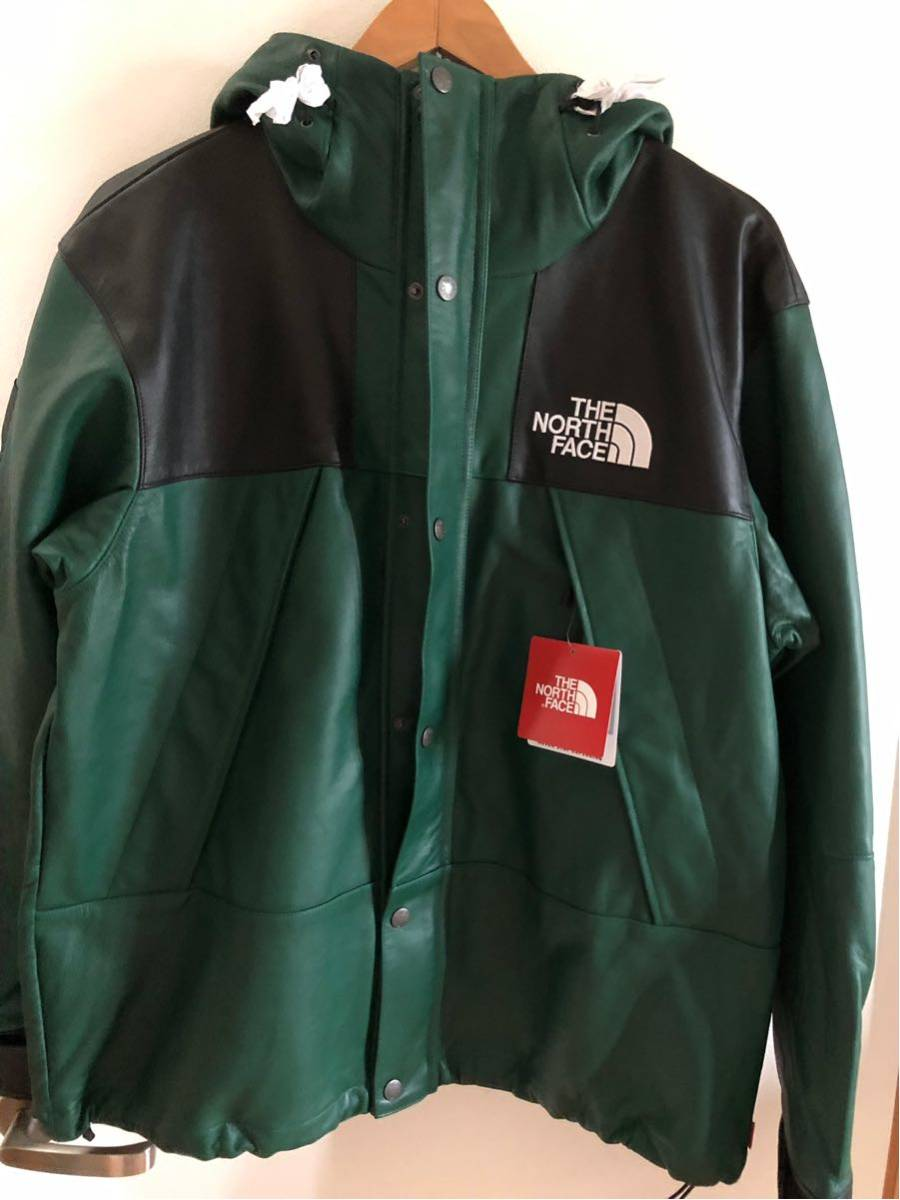 Supreme The North Face Leather Mountain Parka green M 緑 jordan nuptse Box Logo