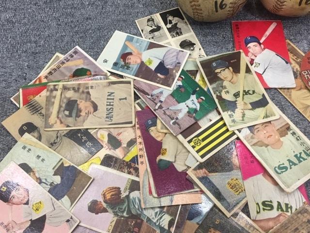 昭和レトロ 1950年代 大阪タイガース 三宅選手サインボール他 野球メンコ・丸メンコ・人型メンコ・選手カード等 いろいろおまとめ_画像4