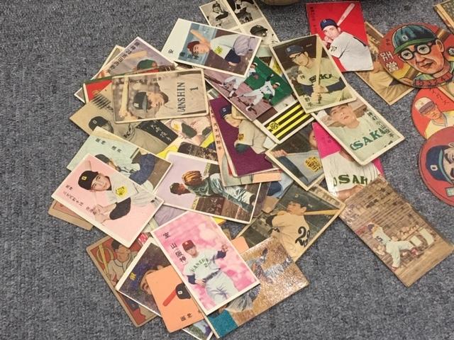 昭和レトロ 1950年代 大阪タイガース 三宅選手サインボール他 野球メンコ・丸メンコ・人型メンコ・選手カード等 いろいろおまとめ_画像3