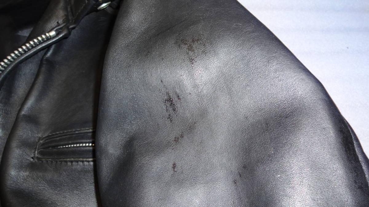 Schott ライダースジャケット シングル_画像6