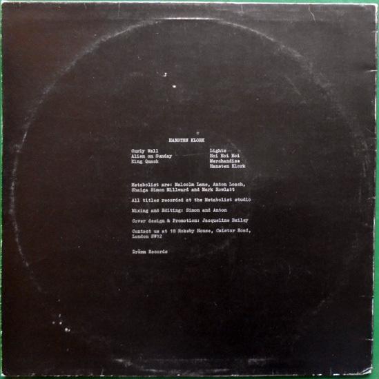 【LP】METABOLIST - Hansten Klork【1980年Post Punk/クラウトロック直系重量音】_画像2