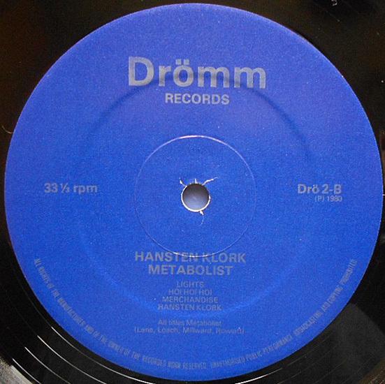 【LP】METABOLIST - Hansten Klork【1980年Post Punk/クラウトロック直系重量音】_画像4