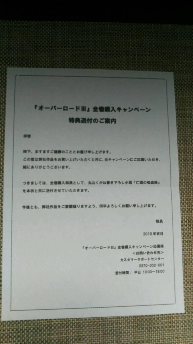 オーバーロードIII Blu-ray全巻購入特典 丸山くがね書き下ろし小説「亡国の吸血姫」_画像4