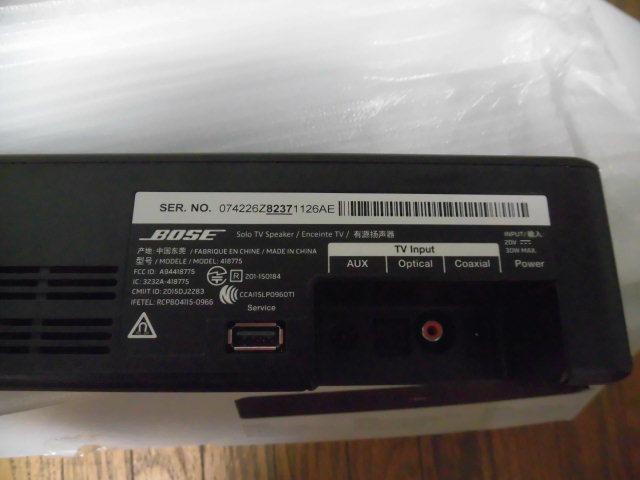 美品 BOSE ボーズ Solo TV Speaker Enceinte TV サウンドスピーカー Bluetooth ブルートゥース対応 サウンドバー_画像3