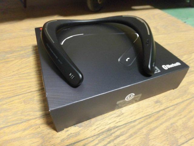 美品 シャープ AQUOS サウンドパートナー AN-SS1 Bluetooth ブラック ウェアラブルスピーカー 肩掛けスピーカー