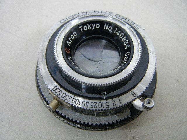 1る32★フィルムカメラ用カメラレンズ SEIKOSHA-RAPID アルコ Colinar 1:2.8 F=5cm C.Arco Tokyo レンジファインダー_画像2