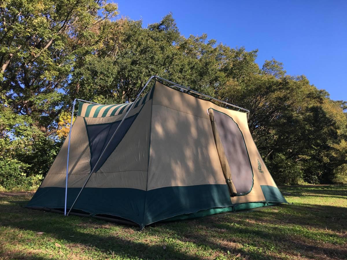 ビンテージ シアーズ コテージ キャンバス テント 13x10 ルーフコットン コールマン 快適tent