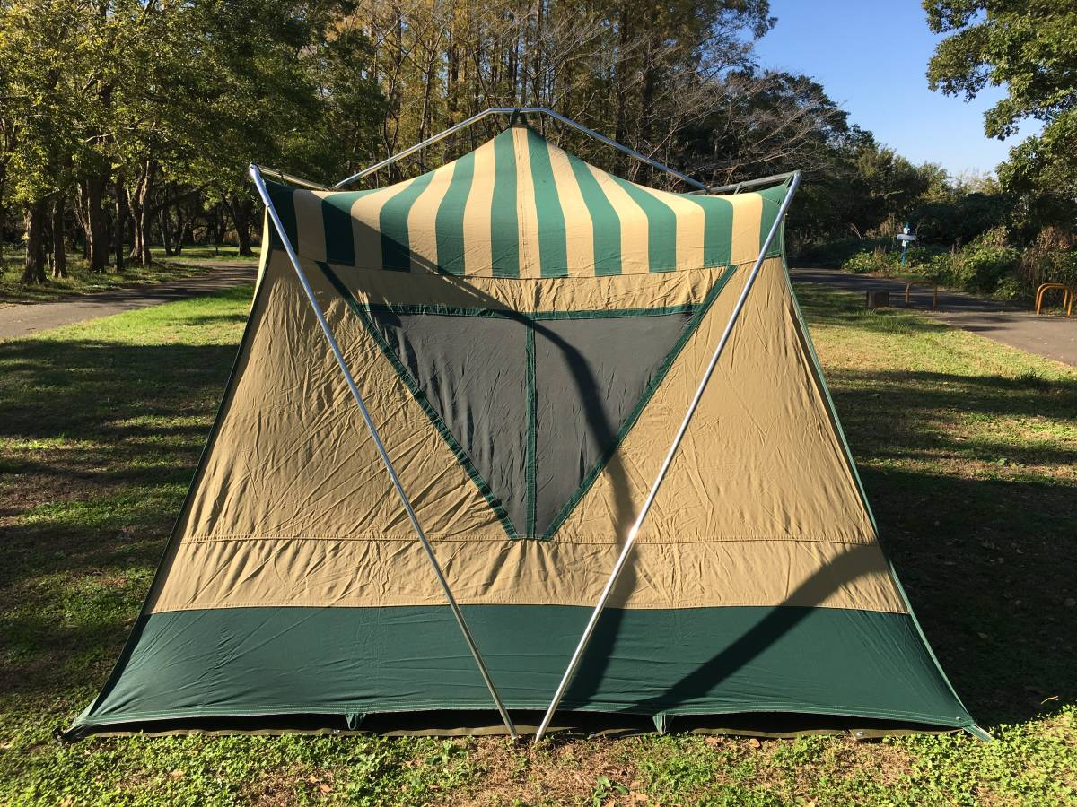 ビンテージ シアーズ コテージ キャンバス テント 13x10 ルーフコットン コールマン 快適tent_画像2