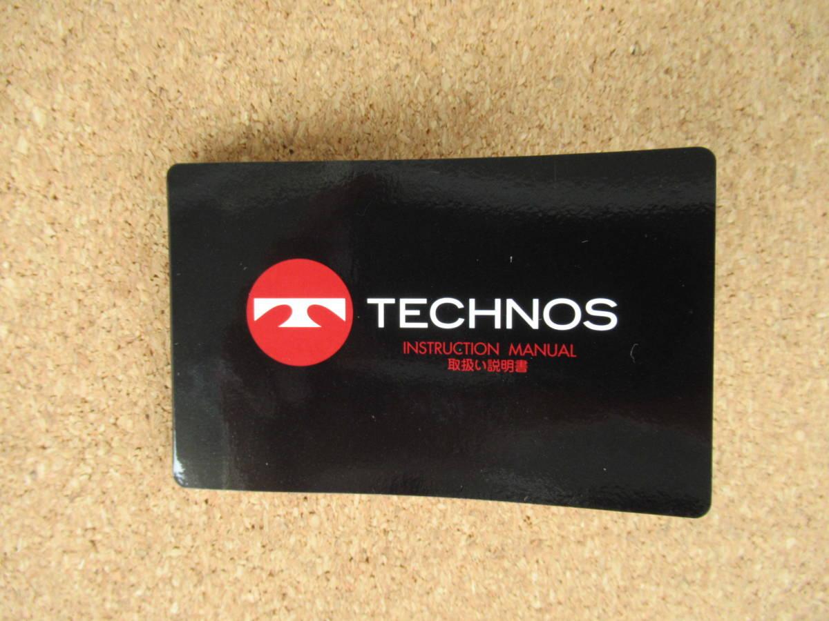 テクノス クロノグラフ T4146 電池交換&ブレス洗浄済み 使用感少な目な美品 取扱い説明書付き 激安 !!_取扱い説明書付き