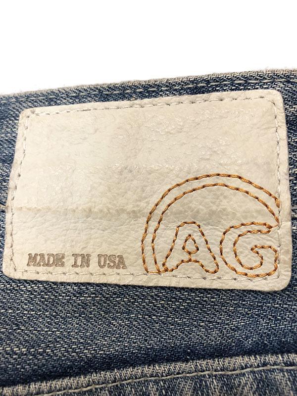 エージー AG デニム パンツ ライトブルー 28 インディゴ 送料520円 アドリアーノゴールドシュミット ADRIANO GOLDSCHMIET ビンテージ加工_画像8