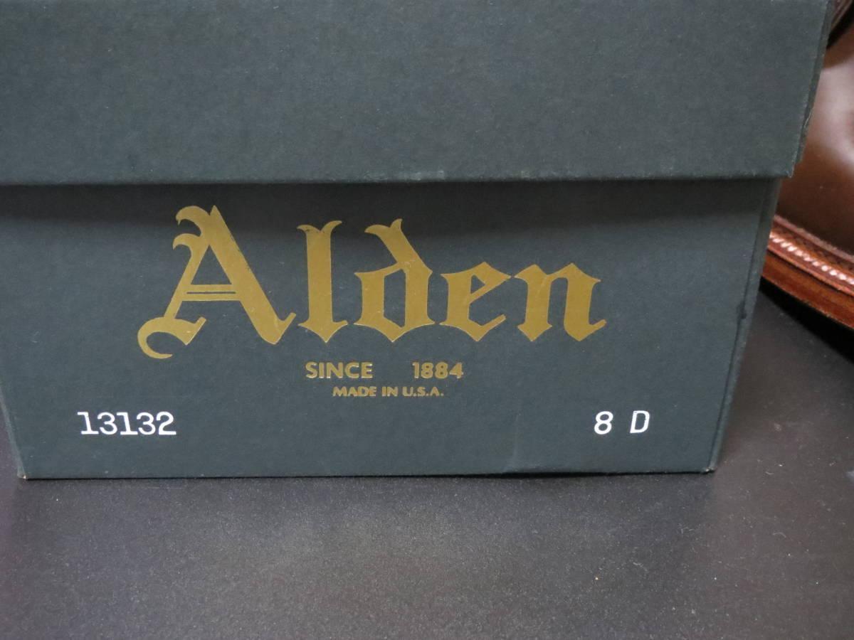【新品】ALDEN 13132 CIGAR CORDOVAN オールデン レアカラー コードバン シガー ラベロ ウィスキー_画像2