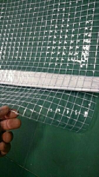 0.55ミリ カーポート 糸入り ビニールカーテン オーダー 車庫 塗装ブース 間仕切り 雪 暖房 防寒 板金 倉庫 間仕切り 冷房 _画像3