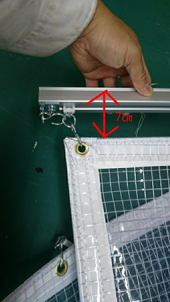 0.55ミリ カーポート 糸入り ビニールカーテン オーダー 車庫 塗装ブース 間仕切り 雪 暖房 防寒 板金 倉庫 間仕切り 冷房 _画像5