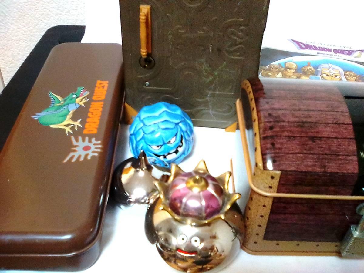即決 ドラゴンクエスト11種 鉄の金庫 カンペン 商人の宝箱 銀のタロット武器防具ハンカチ 爆弾岩 メタル メタルキング ドラクエ_画像2