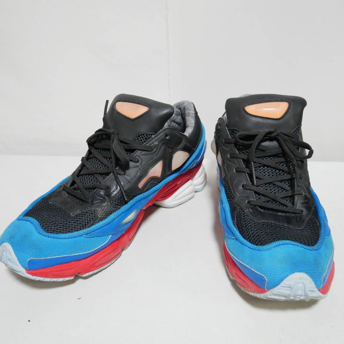 *1円~ adidas×RAF SIMONS ラフシモンズ OZWEEGO 2 オズウィーゴ B24072 BLACK BLUE RED 黒青赤 US10 28 FK