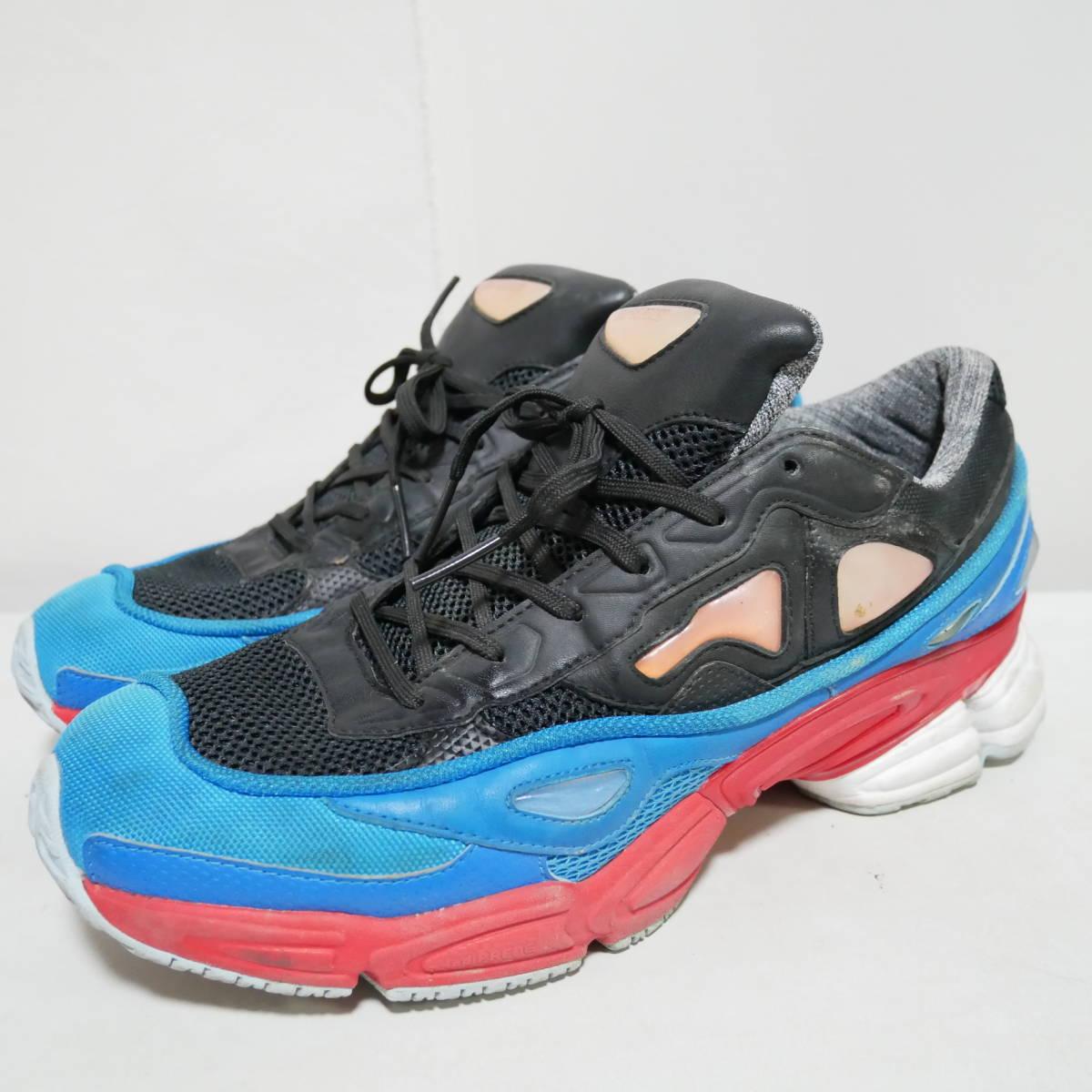 *1円~ adidas×RAF SIMONS ラフシモンズ OZWEEGO 2 オズウィーゴ B24072 BLACK BLUE RED 黒青赤 US10 28 FK_画像2