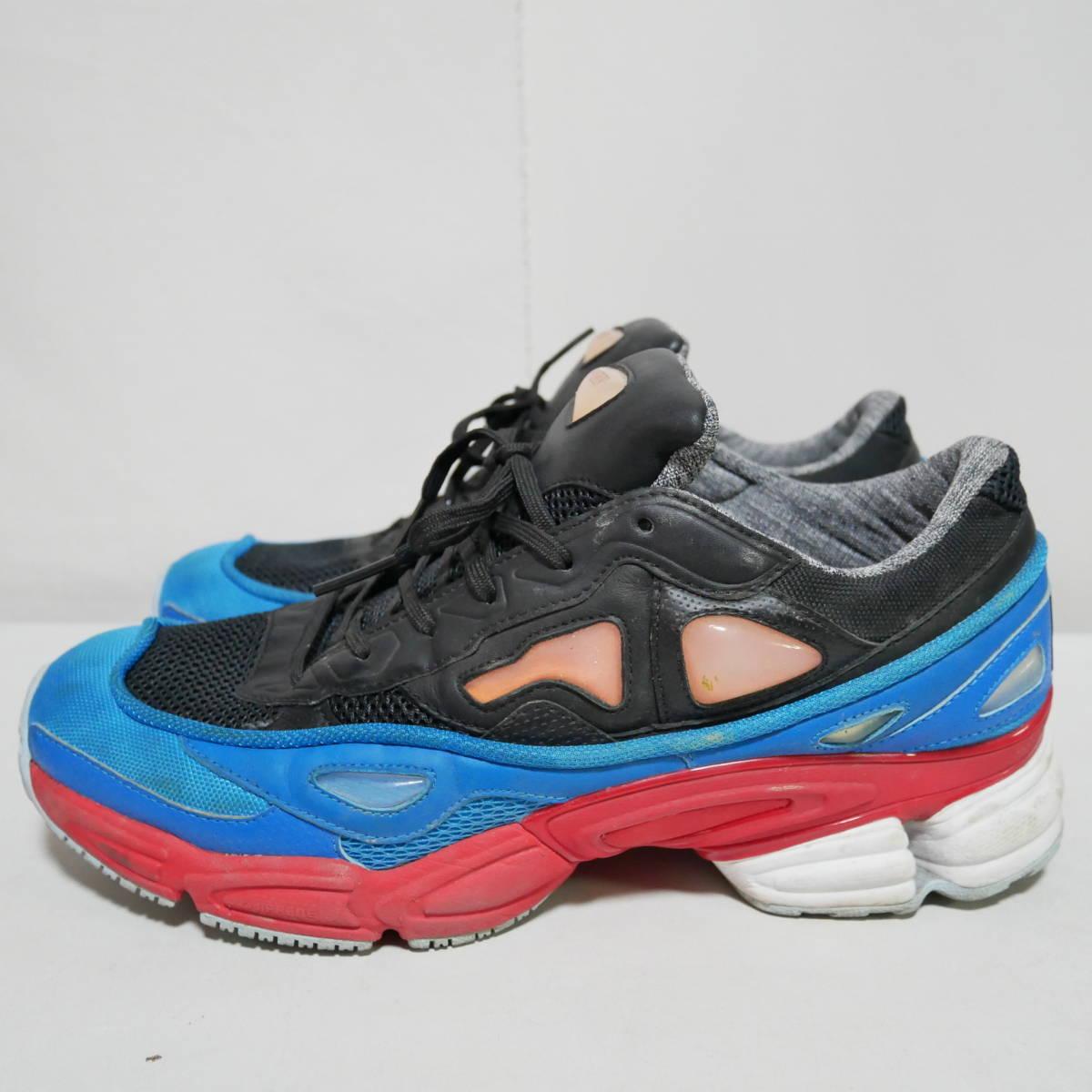 *1円~ adidas×RAF SIMONS ラフシモンズ OZWEEGO 2 オズウィーゴ B24072 BLACK BLUE RED 黒青赤 US10 28 FK_画像3