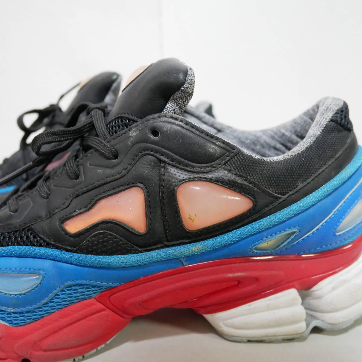 *1円~ adidas×RAF SIMONS ラフシモンズ OZWEEGO 2 オズウィーゴ B24072 BLACK BLUE RED 黒青赤 US10 28 FK_画像4
