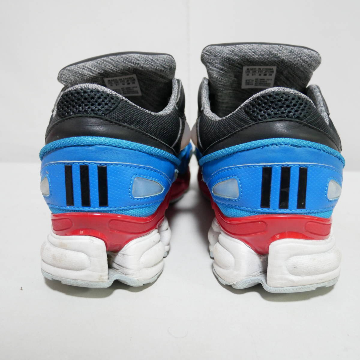 *1円~ adidas×RAF SIMONS ラフシモンズ OZWEEGO 2 オズウィーゴ B24072 BLACK BLUE RED 黒青赤 US10 28 FK_画像6