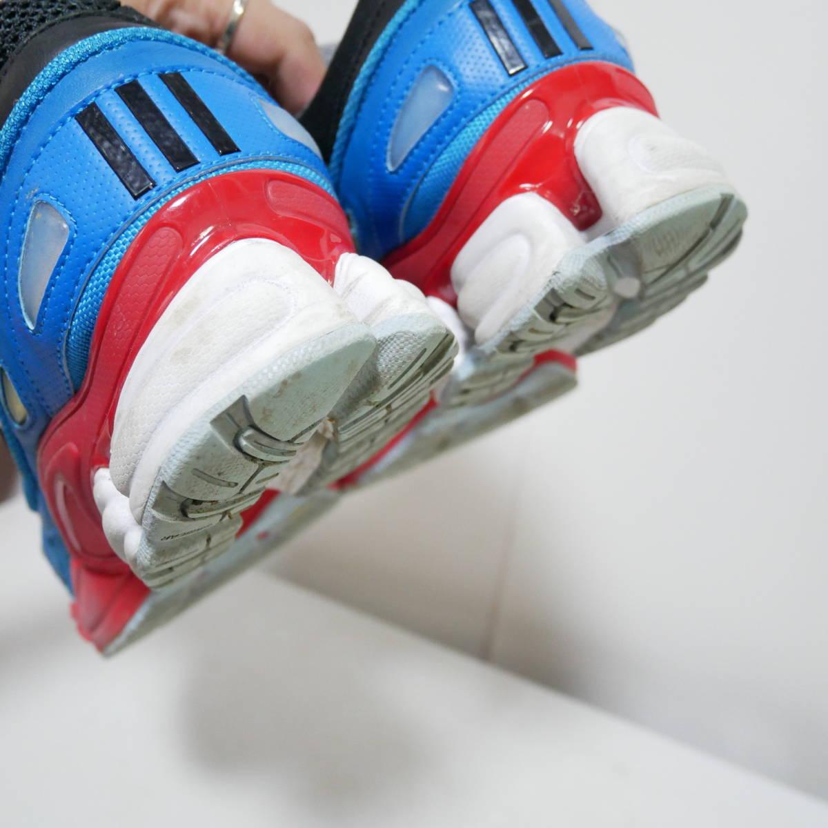 *1円~ adidas×RAF SIMONS ラフシモンズ OZWEEGO 2 オズウィーゴ B24072 BLACK BLUE RED 黒青赤 US10 28 FK_画像7