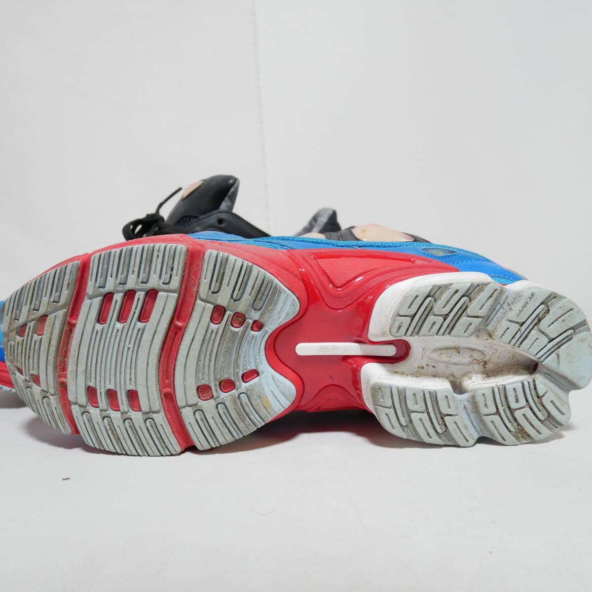 *1円~ adidas×RAF SIMONS ラフシモンズ OZWEEGO 2 オズウィーゴ B24072 BLACK BLUE RED 黒青赤 US10 28 FK_画像8