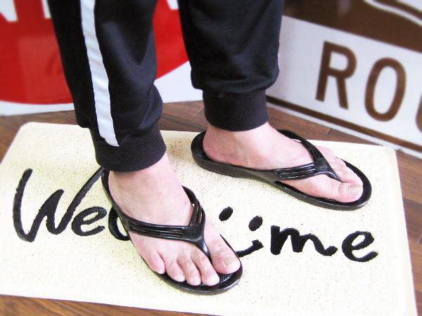 Made in JAPAN!丈夫で滑りにくいおしゃれサンダル!ビーチサンダル ギョサン (GYOSAN メンズ LL)26~27cm ゴムサンダル 便所サンダル_画像3