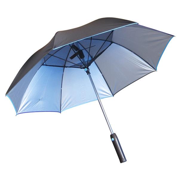 暑い日のゴルフもこれで安心!涼風パラソル 扇風機付き 日傘 (晴雨兼用) ファンファンパラソル UVカット 遮光 熱中症対策 送風 紫外線 雨傘_画像2