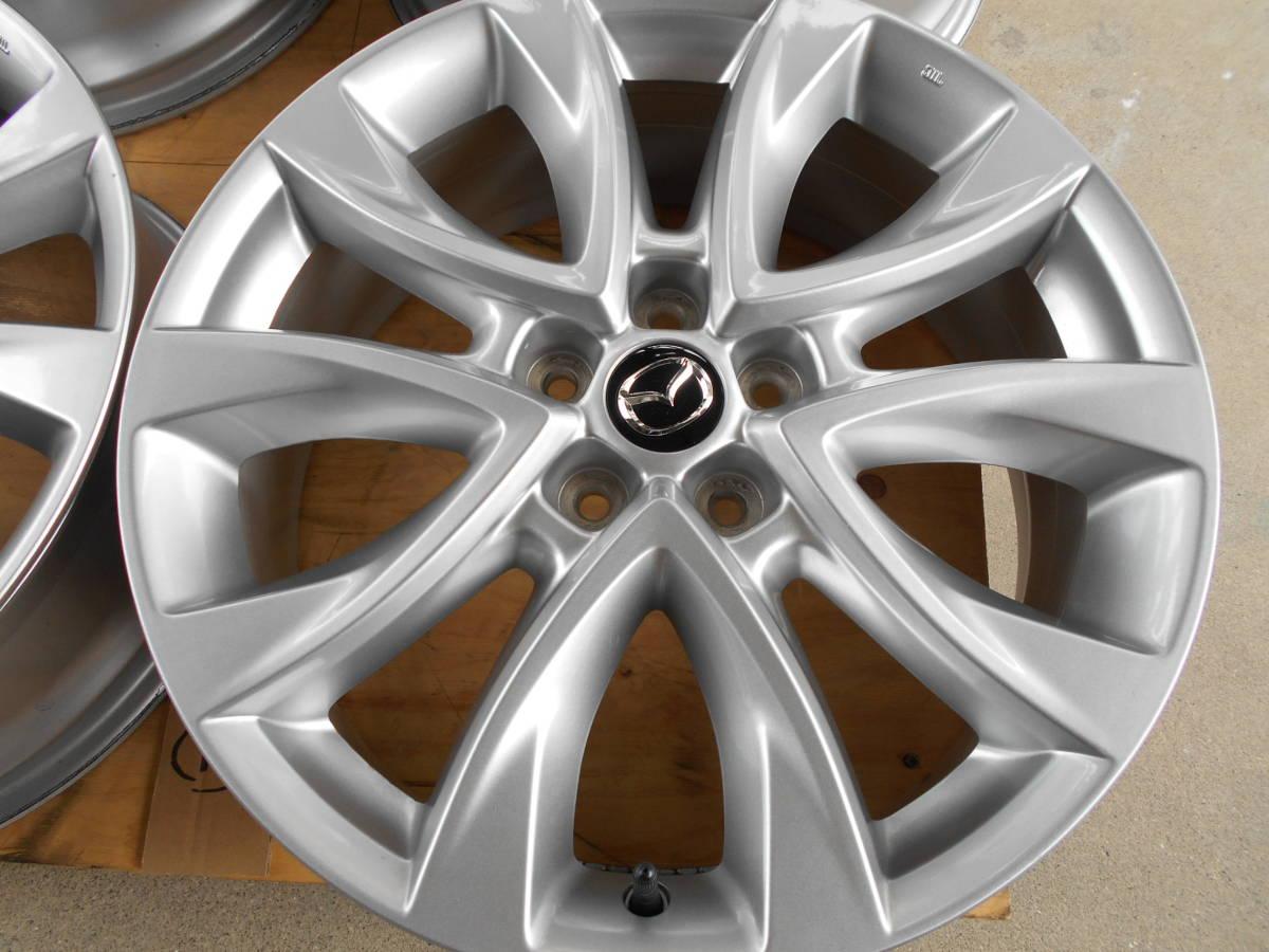 ◆新車外し近し マツダ CX-5純正ホイール4本セット アテンザ CX-3 CX-8 ロードスター プレマシー マツダ5穴車全般に_画像2
