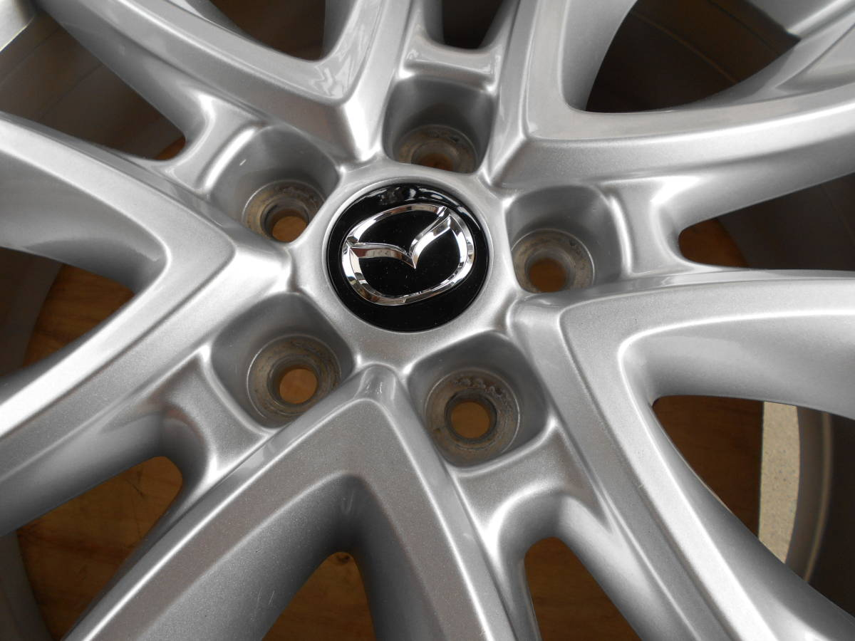 ◆新車外し近し マツダ CX-5純正ホイール4本セット アテンザ CX-3 CX-8 ロードスター プレマシー マツダ5穴車全般に_画像4