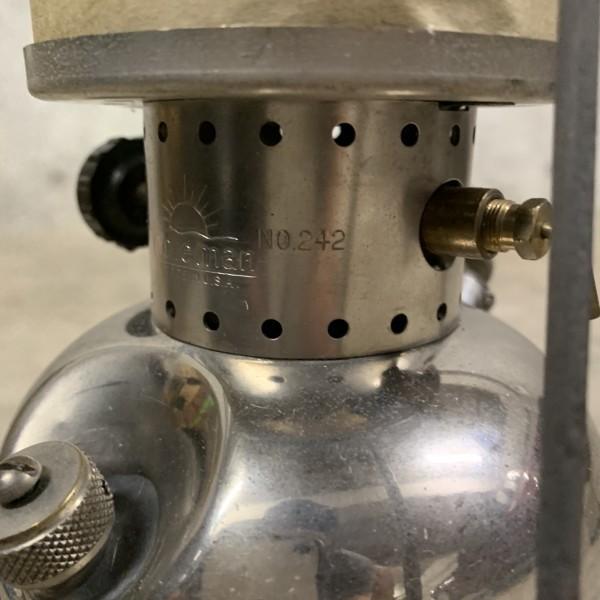 超貴重 美品 Coleman コールマン ジュニア 242 1934年3月製造 新品レプリカマイカグローブ NRV逆止弁バルブタイプ_画像8