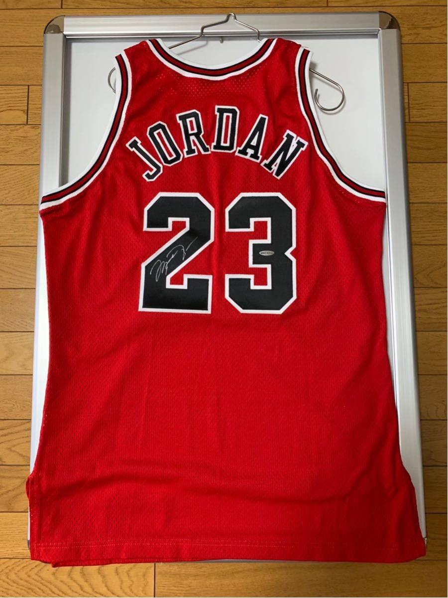 マイケル ジョーダン 直筆 サイン 赤 ジャージ アッパーデック Michael Jordan Auto Red Jersey Upper Deck 新品未開封の額付き