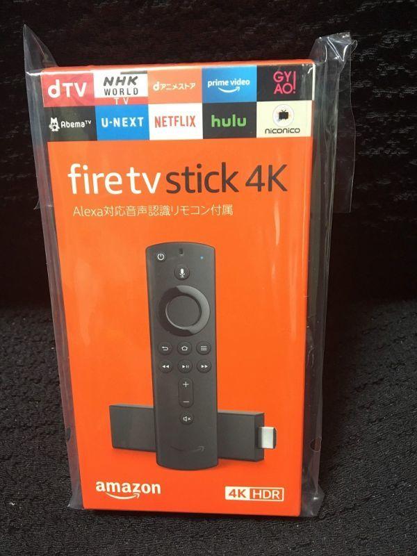 新品 未開封Amazon アマゾン Fire TV Stick 4K Alexa 対応 音声認識 リモコン 付属_画像1