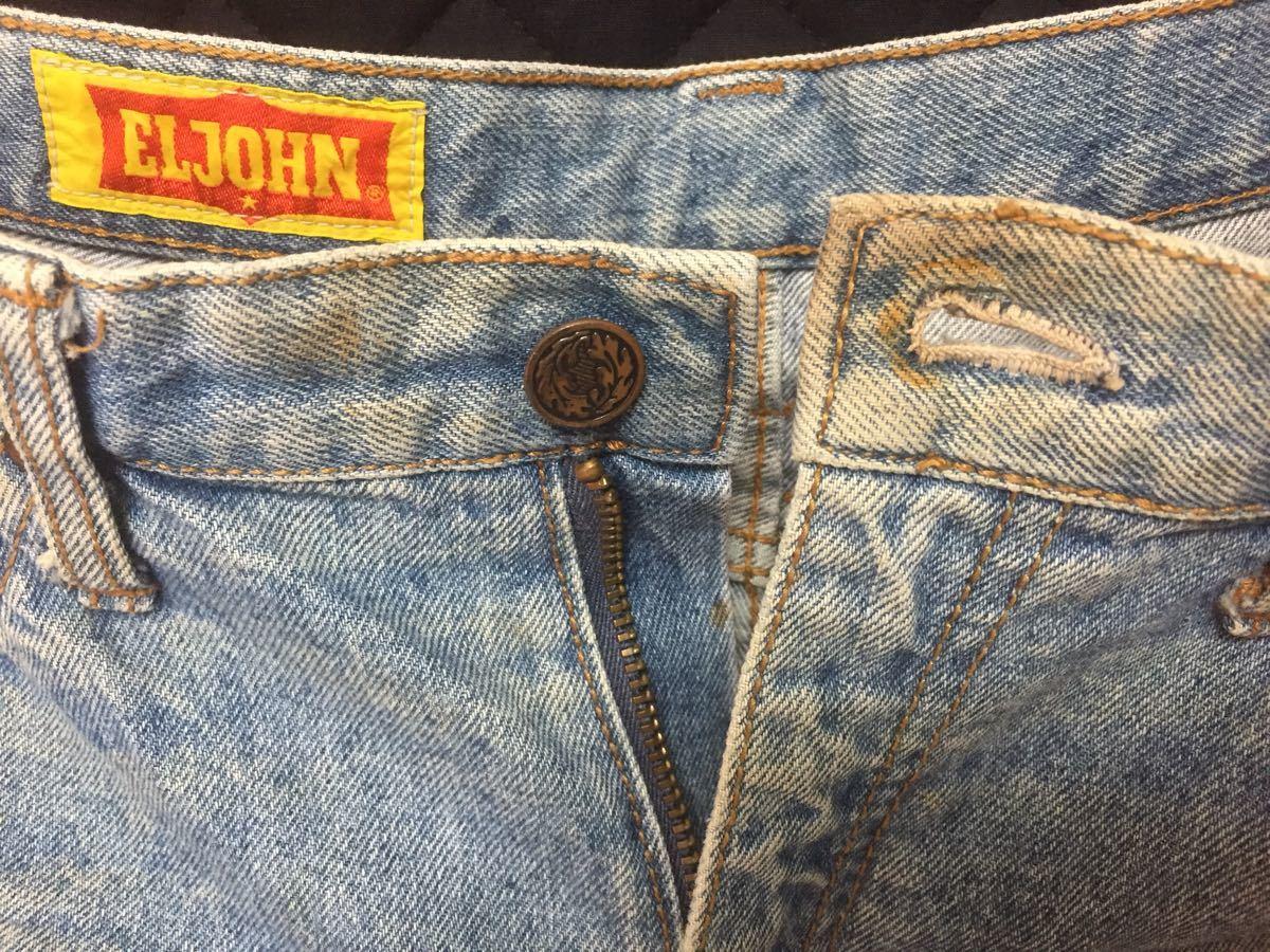 EL JOHN デニム半ズボン 160-170cm (ブルーウォッシュ)_画像5