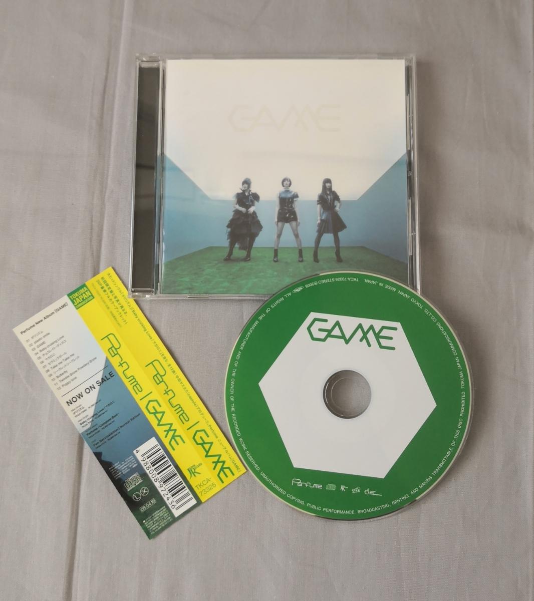 【Perfumeパフューム GAME 】☆2008年徳間ジャパン発売 中古CD☆ 100円スタート売り切り ☆当時ものです
