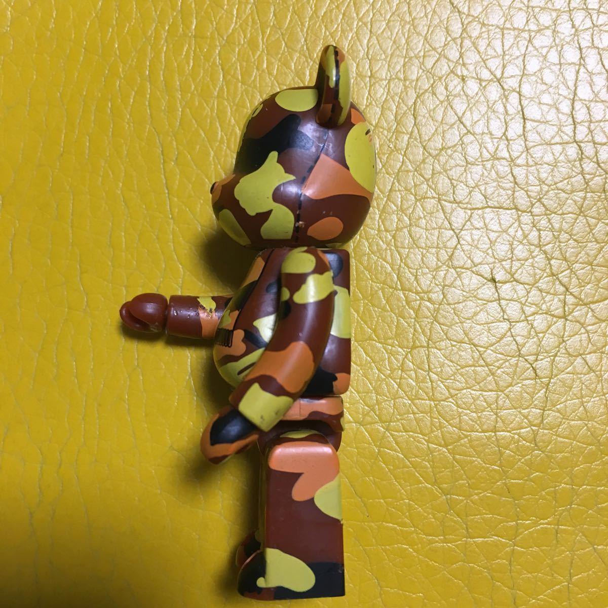 【送料無料】ベアブリック/エイプシリーズ2/茶×黄×橙×黒.シークレットbearbrick.100%.Ape希少レア.難あり_画像4