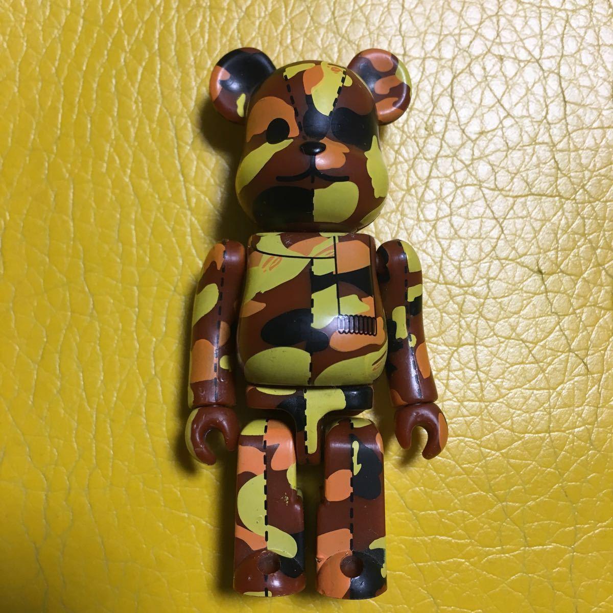【送料無料】ベアブリック/エイプシリーズ2/茶×黄×橙×黒.シークレットbearbrick.100%.Ape希少レア.難あり