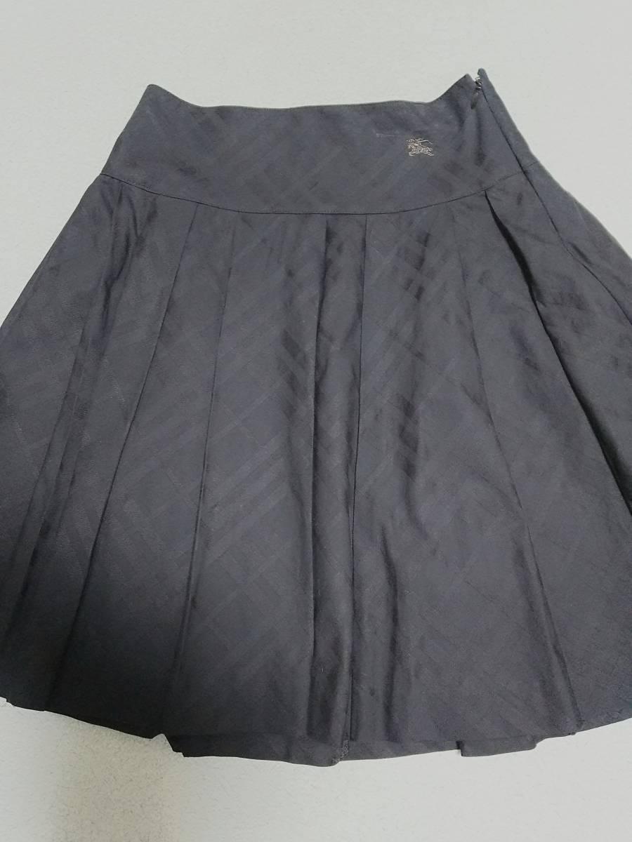 ★美品★バーバリー★フレアーギャザースカート36サイズ★ブラック