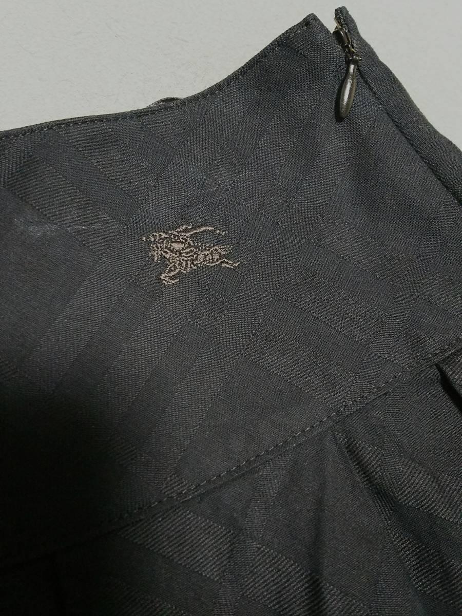 ★美品★バーバリー★フレアーギャザースカート36サイズ★ブラック_画像2