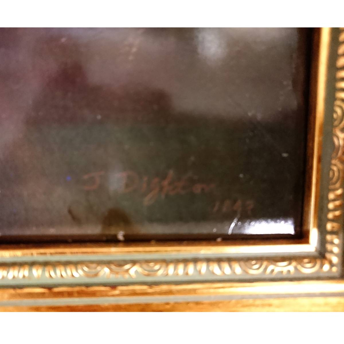 美麗 華麗 ロイヤルヴィエナ 額装 陶版画 大パネル 40㎝ 船港湾 美麗 額装 大型船出航図_画像5