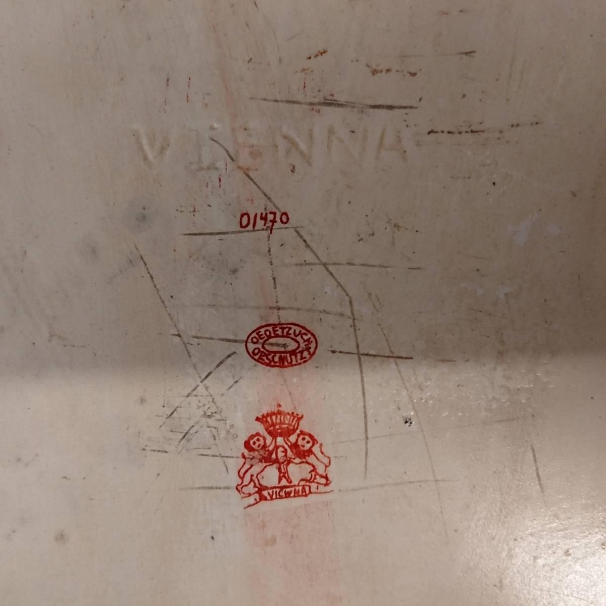 美麗 華麗 ロイヤルヴィエナ 額装 陶版画 大パネル 40㎝ 船港湾 美麗 額装 大型船出航図_画像10