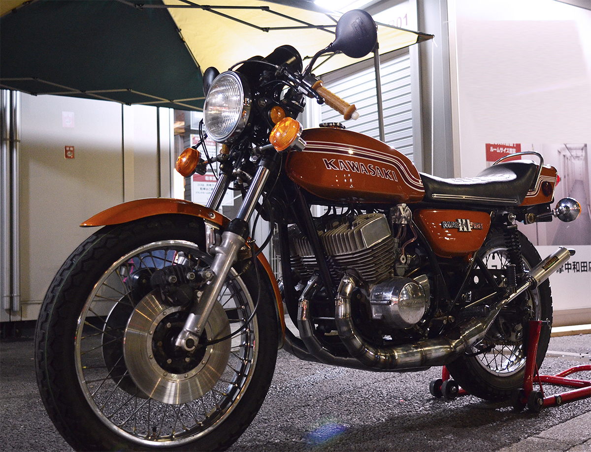 Kawasaki750SS H2 マッハⅢ 1972年型 初期型6000番台 キャンディゴールド 逆輸入 国内新規3年車検 マッハ KA SS S1 S2 H1 H2 KH 全国配送_画像8