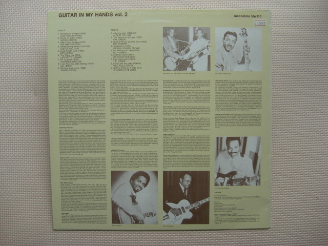 *【LP】【V.A】Guitar In My Hands Vol. 2 /Lightnin' Hopkins、Goree Carter、Pee Wee Crayton他(blp110)(輸入盤)_画像4