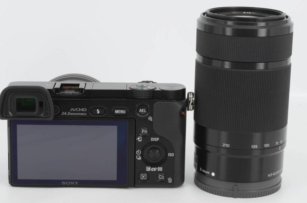 ◆新品級◆ ソニー Sony ILCE-6000Y α6000 ダブルズームレンズキット ブラック 元箱付き (YO-R05)_画像4