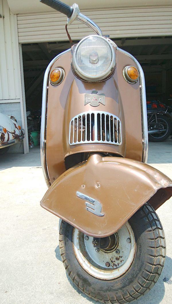「希少/1955年/シルバーピジョン/C57/未再生/192㏄/三菱/1型/旧車/オリジナル/ジュノオ/ラビット S71/vespa/Lambretta/昭和レトロ」の画像2