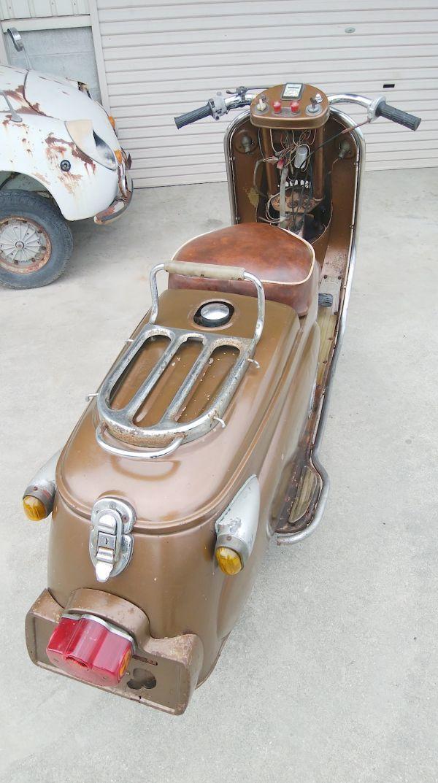 「希少/1955年/シルバーピジョン/C57/未再生/192㏄/三菱/1型/旧車/オリジナル/ジュノオ/ラビット S71/vespa/Lambretta/昭和レトロ」の画像3
