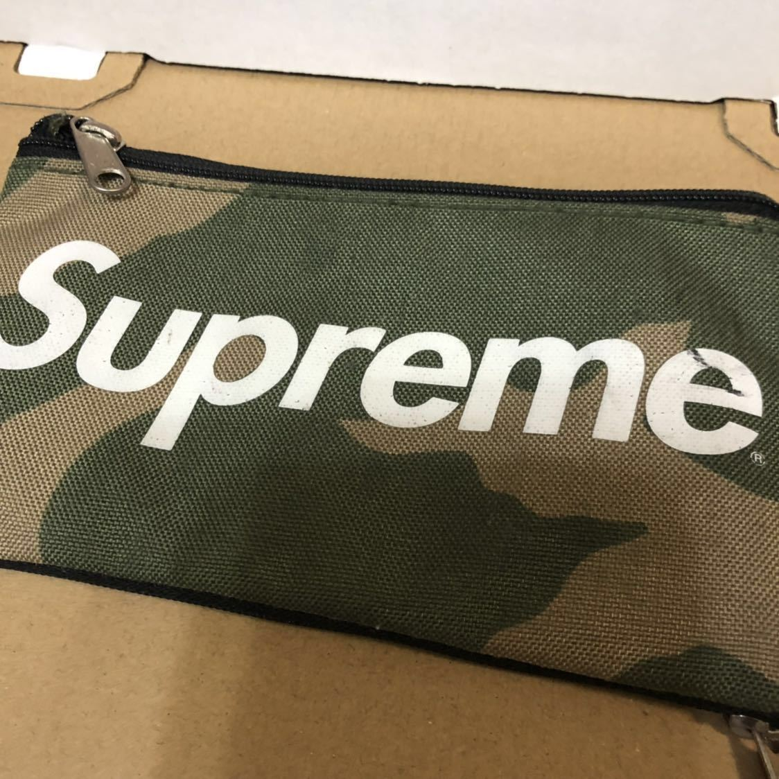 Supreme 16AW mobile pouch カモ woodland camo iPhone android スマホ ケース カバー モバイルポーチ バッグ 財布 BOXロゴ 迷彩 19ss_画像1