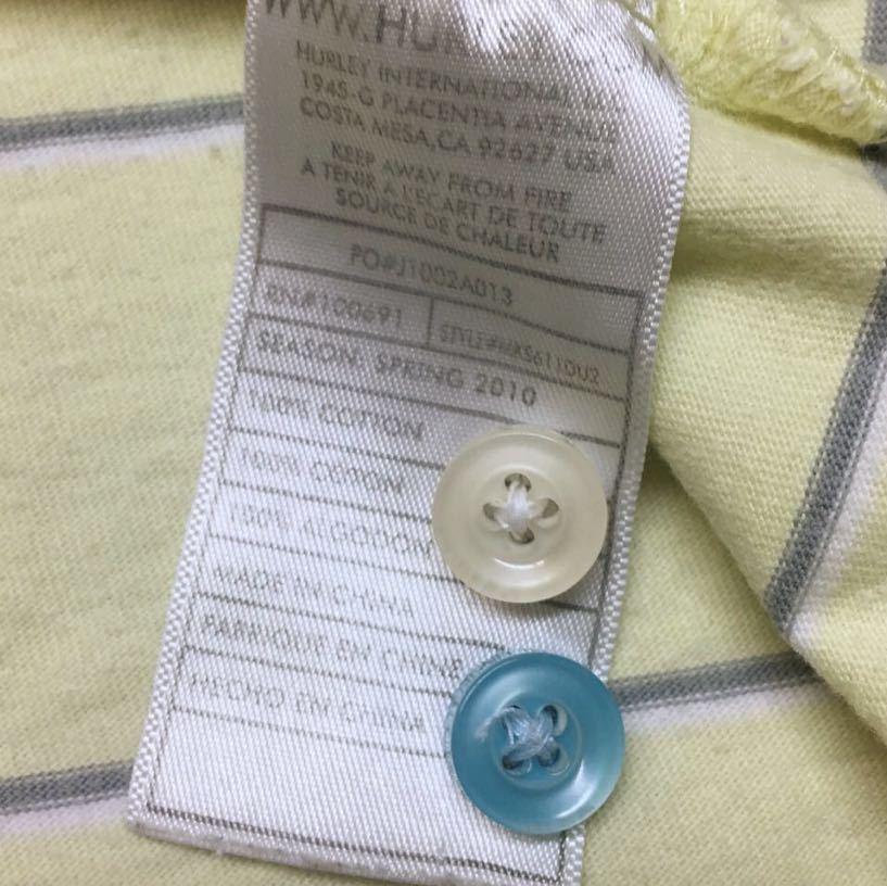 〈Hurley〉ハーレー◆メンズ size M / ロゴ刺繍 ボーダー 半袖 ポロシャツ コットンシャツ トップス カジュアル☆ // USA古着 USED_画像7